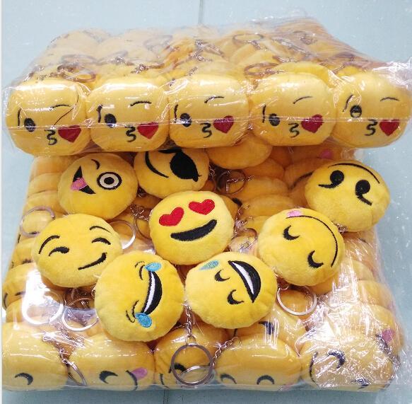 Hot nuovo 6 cm Emoji Smiley portachiavi simpatico cartone animato ciondolo auto catena chiave mix stile spedizione gratuita