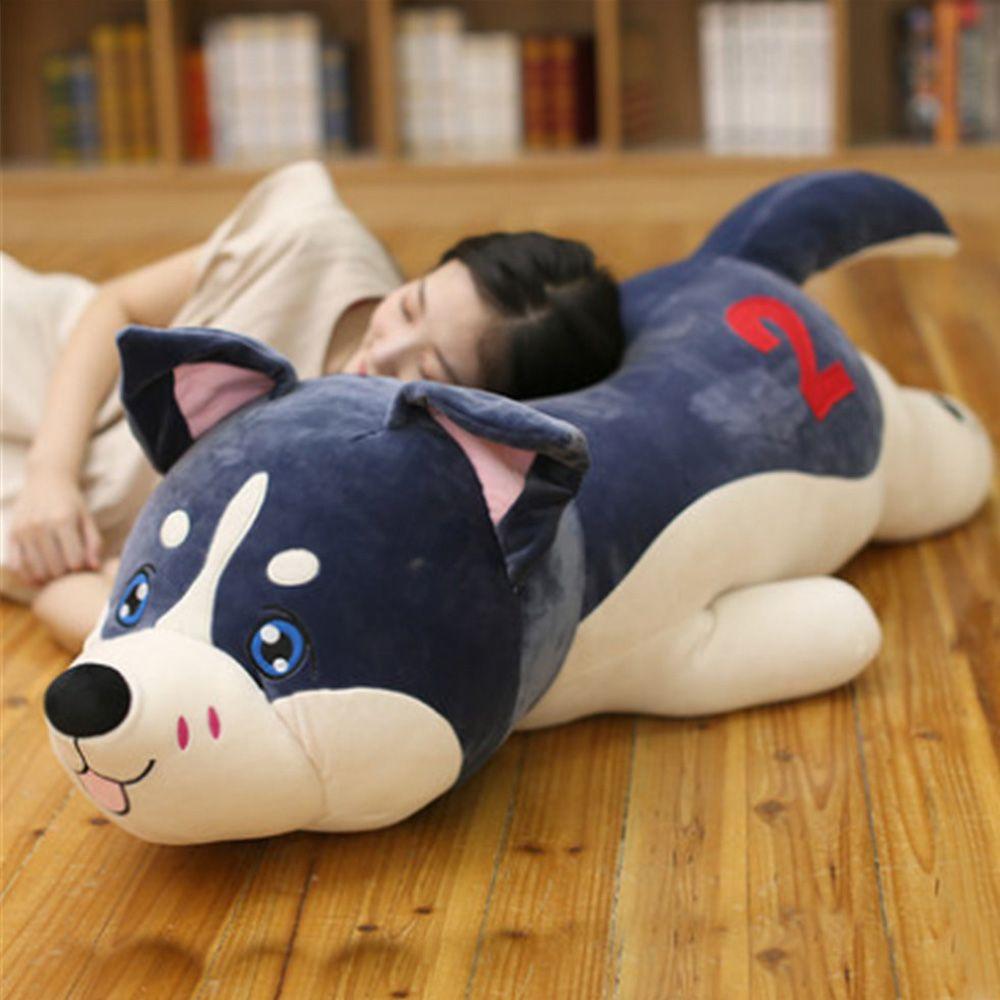 18 Big Giant Animal Husky Dog Soft Plush Toy Stuffed Lying Dog ...