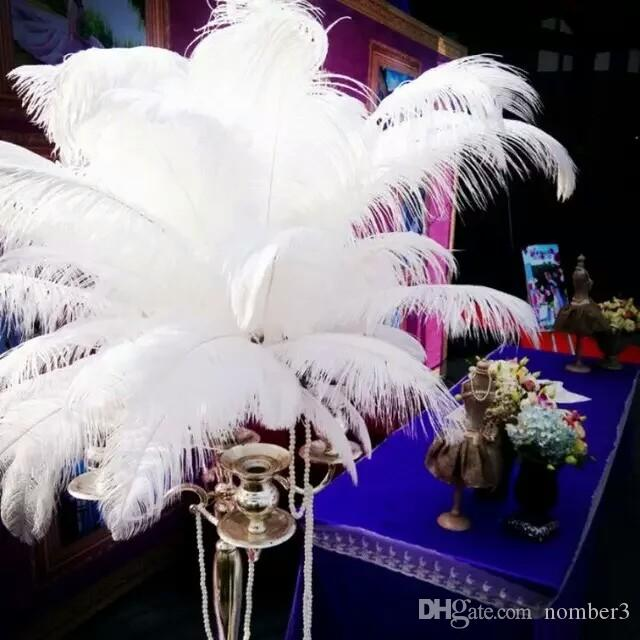 Wholesale White Ostrich Feather Plumes For Wedding Centerpiece