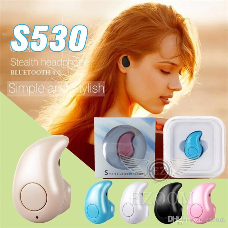 S530 Mini Earbud Earphone 2017 New Popular Mini Ultra small V4.0 Stereo Bluetooth Headset For iPhone Android Smart Phone With Retail Package