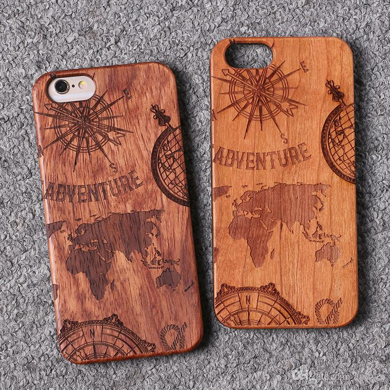 Iphone 6 World Map Case.For Iphone 5 6 6plus 7 7plus World Map Creative Wood Case For