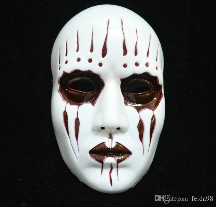 Wsjdmm Prank Props Novelty Slipknot Band James Mask Zipper Mouth Mask Halloween Horror Punk Party Dress Up Movie Props