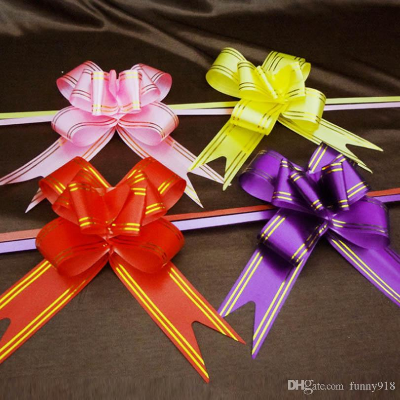 Pull Bow Ribbons Gift Wrapping Happy New Year Wedding Birthday Party