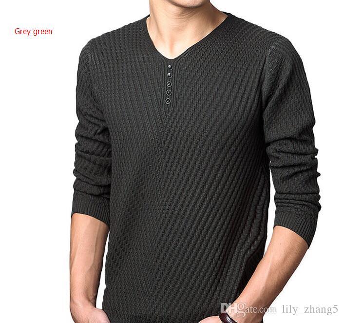 2016 Autunno Inverno Marca Casual scollo a V Maglione uomo in lana cachemire Slim Pullover maglione di Natale uomini vestito maglione lavorato a maglia