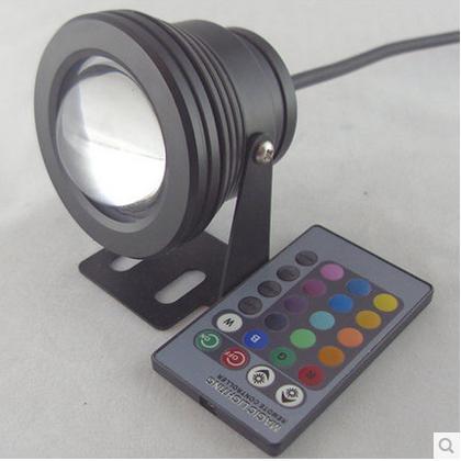 10W RGB Proiettore subacqueo LED luci di inondazione piscina esterna impermeabile rotonda DC 12V lente convessa luce led Campione
