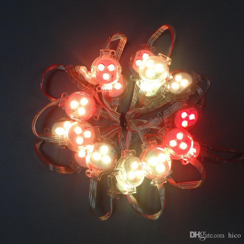 Рождественские огни открытый светодиодные огни строки 30 мм светодиодные пиксель света точки огни WS2811 SM16703 SH1908 прозрачный водонепроницаемый IP68 DC12V