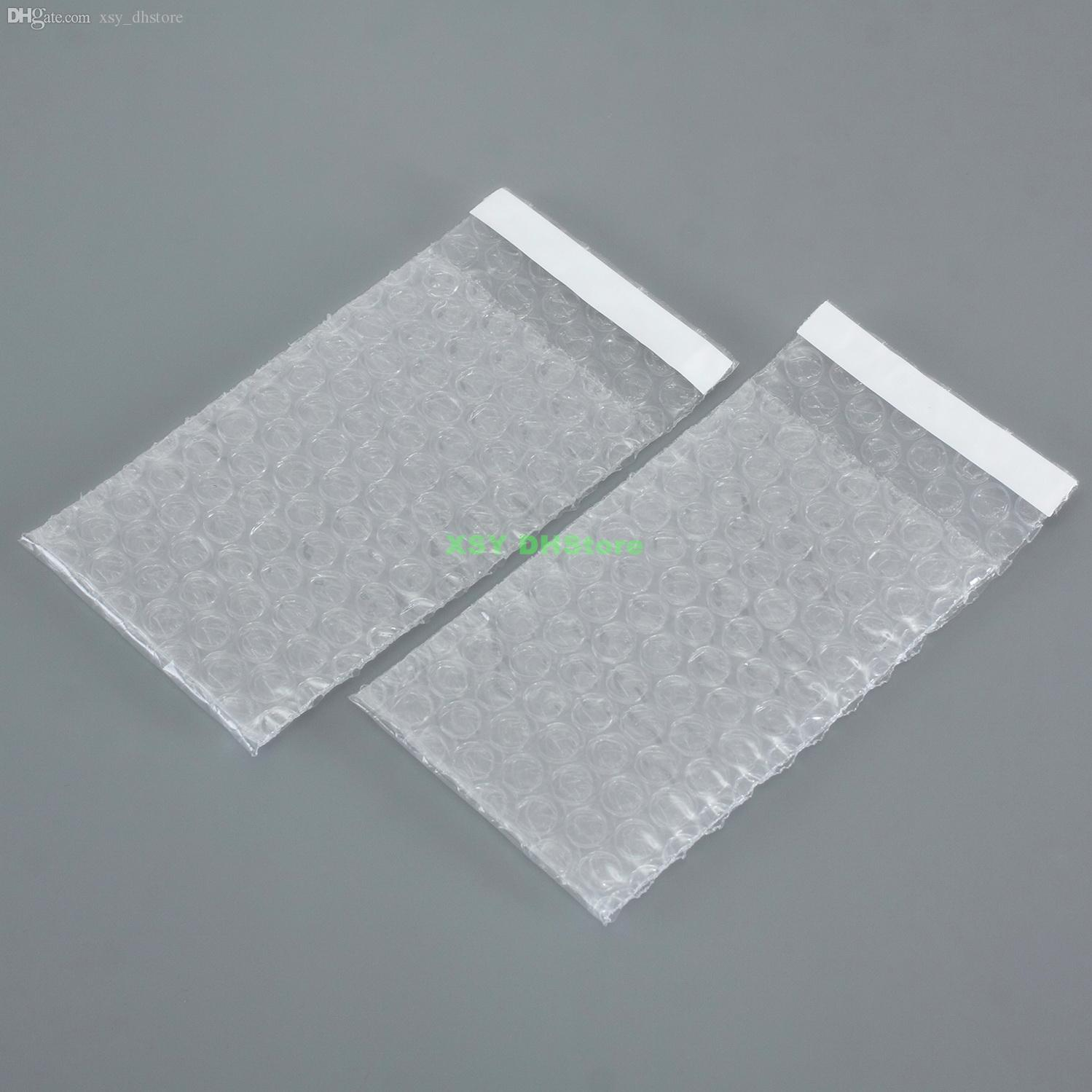 "100 PCS All Sizes Air Bubble Envelopes Wrap Bags Self Sealing Clear Plastic Packing Pouches Width 2.5"" to 6.7"" Length 3"" to 8.7"""