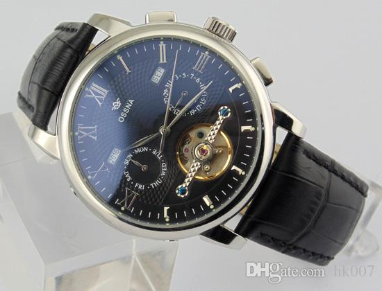 1625 Ossna 42mm Black Dial Polished 316L Stainless Steel Case Mechanical Automatic Men's Watch Gift For Men