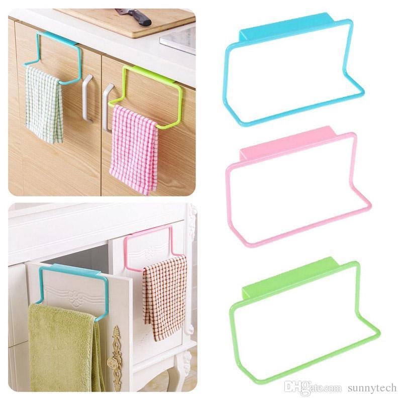 Over Door Tea Towel Holder Rack Rail Cupboard Hanger Bar Hook Bathroom  Kitchen Top Home Organization ...
