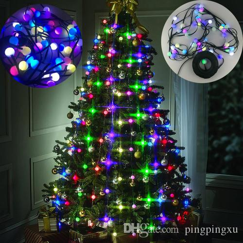 48 led bulbs christmas tree multi colored lights decor stackable lights festival garden light bulb hanging tree us plug kids novelty gifts kids novelty toys