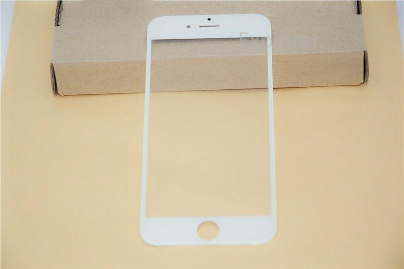 für Samsung Galaxy S6 E7 Front Outer Glasobjektiv mit OCA Film Pre-assembliert für iphone 6 6S Plus Balck White Grade A +