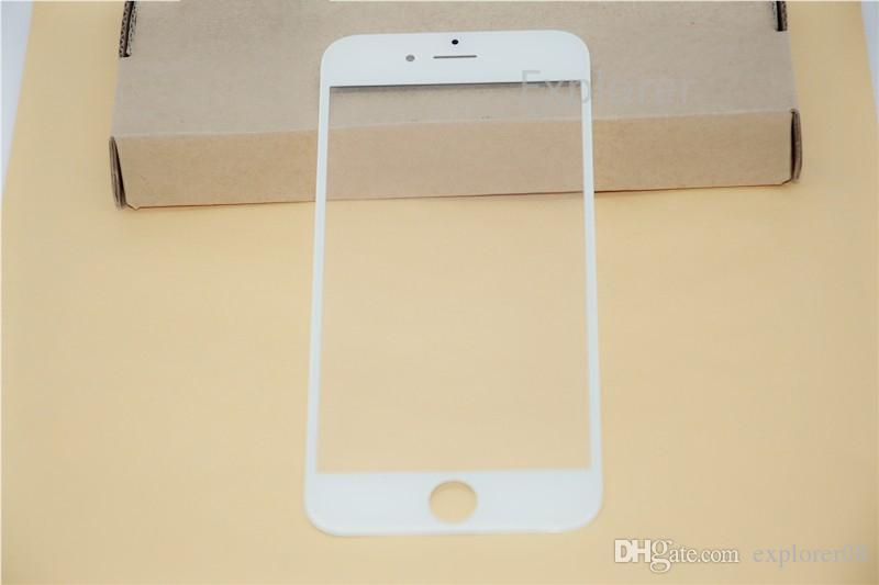 Grade A+ for iPhone 4 5 6 Front Outer Glass Lens with OCA Film Pre-assemblyed for Samsung Galaxy S4 S5 Balck White