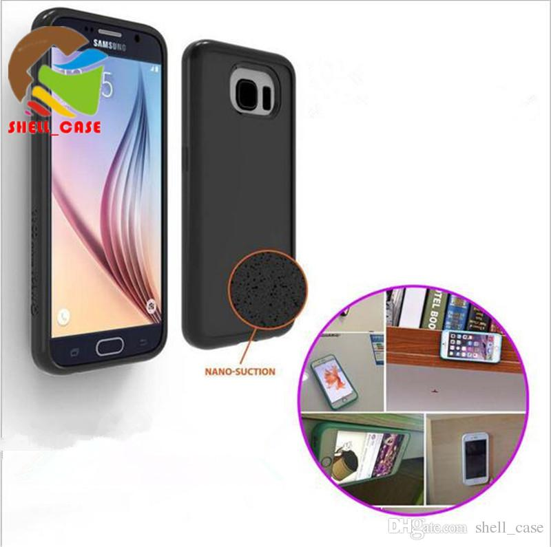 the latest 80414 17029 For galaxy s8 Anti Gravity Selfie Case Washable Nano Sticky Suction Hard PC  Back Cover Cases For iPhone 5 6 6s 7 plus samsung s6 s7 s8 plus