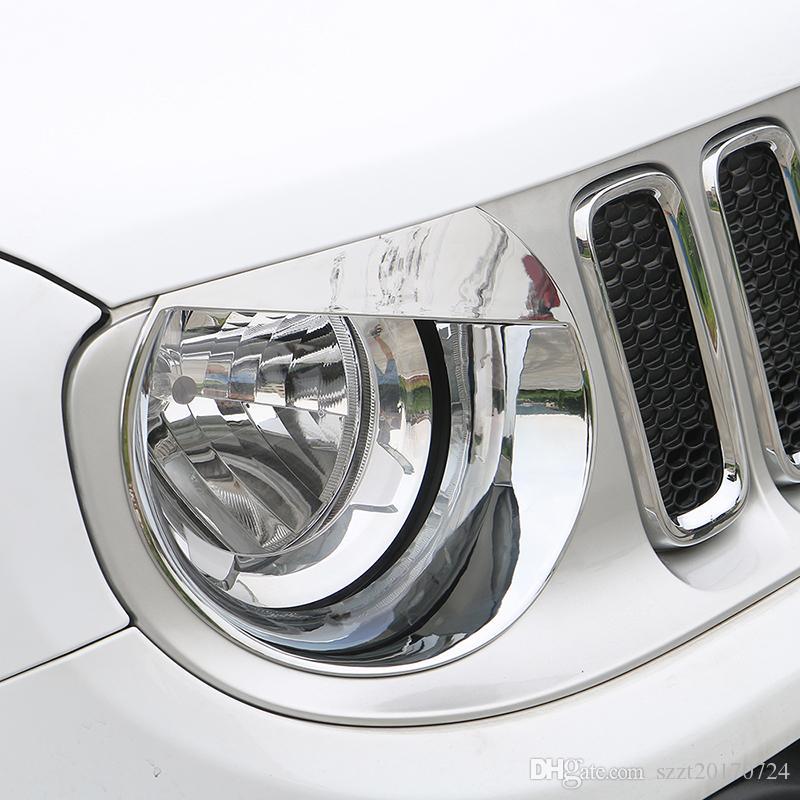 Car Styling ABS Auto Birdie Scheinwerfer-Lampen-Dekoration-Abdeckung für Jeep Renegade 2016-2018 Auto Exterior Zubehör