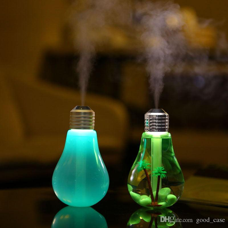 USB Bulb Humidifier Lamp light bulbs Home Aroma LED Humidifiers colorful Air Diffuser Purifier Atomizer For Car Household Use home Decor new
