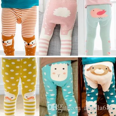 Baby Leggings Stripe Fox Boys Girls Elastic Cotton Soft Girls Animal PP Pants Kids Tights 8 Styles Free Shipping