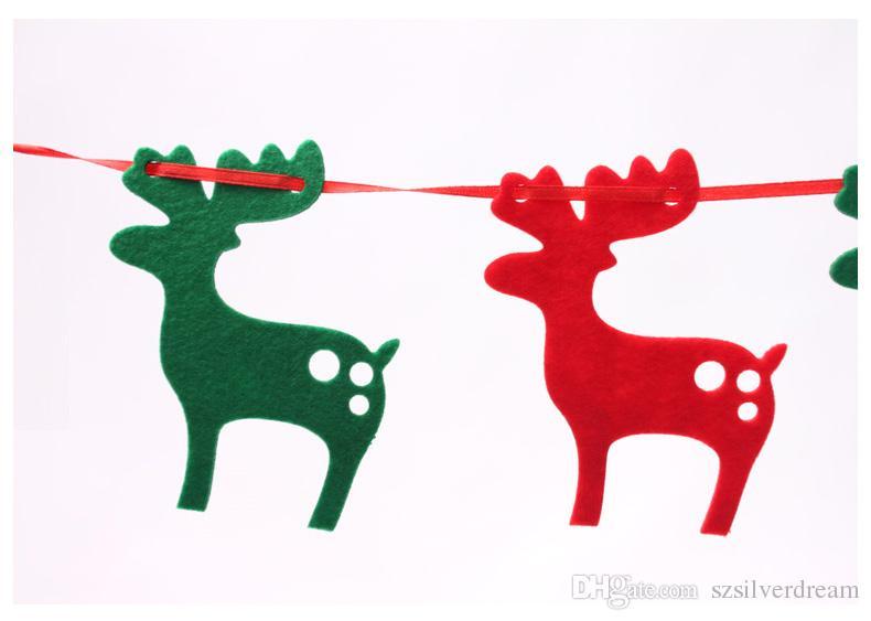 2016 Рождество 2.2m Цветные флаги Партия дома Дерево Декоративные украшения Очаровательны Олень Рождественские украшения Бесплатная доставка