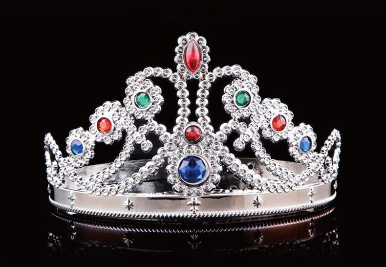 럭셔리 크리스탈 다이아몬드 킹 퀸 크라운 모자 코스프레 Holloween 파티 생일 공주 모자 모자 골드 실버 선물 DHL 무료 WX - H04
