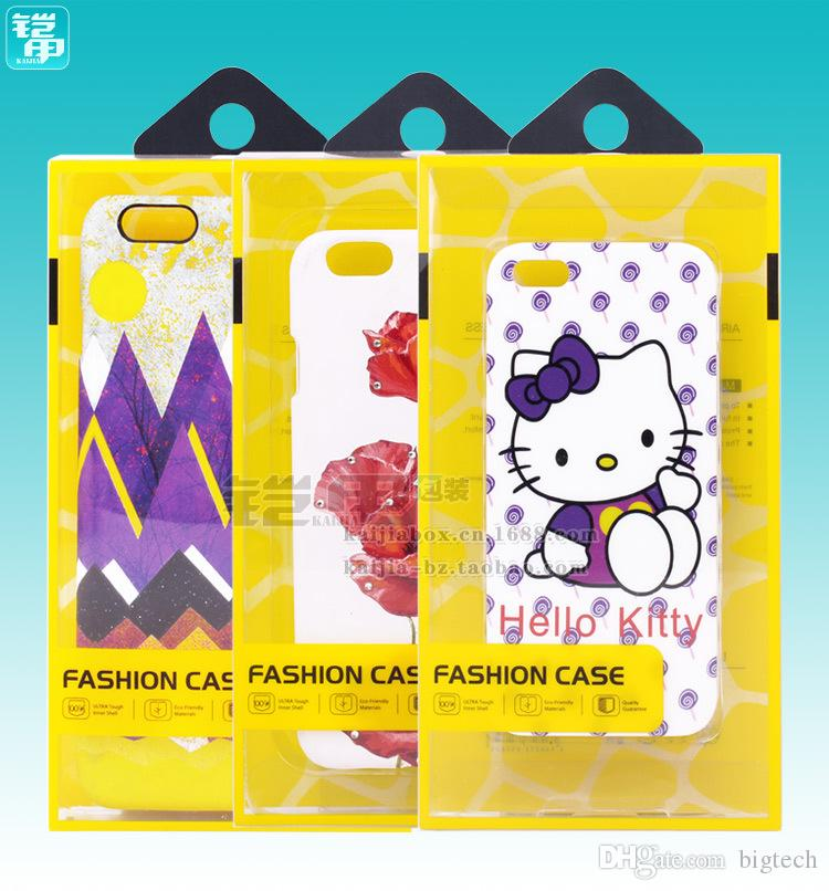 Wholesale Price Customized plastic mobile phone case packaging / cell phone case packaging box for iPhone 6s/7/7 plus Note 7