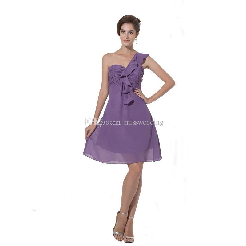Compre Precio Especial Vestido De Dama De Honor De Un Hombro Por ...