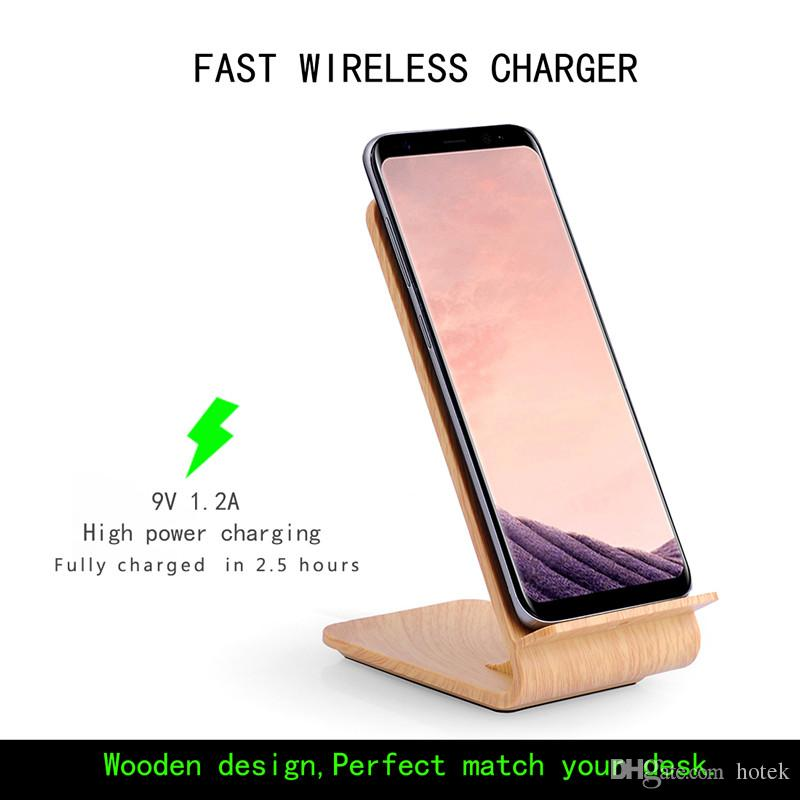 Wood Real Itian A8 10w Fast Wireless Charger Pad For