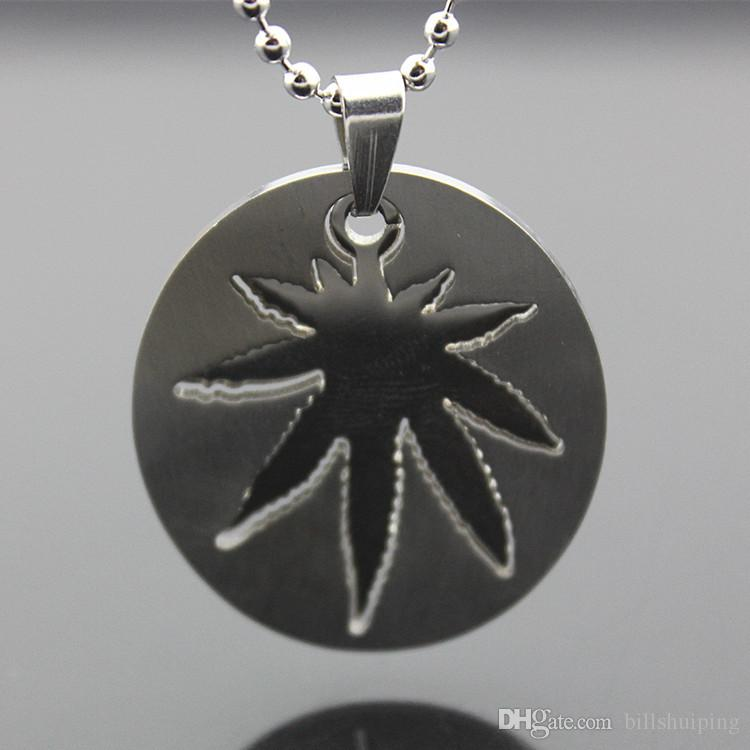 wholesale DIY fashion Stainless Steel Women Men maple leaf Charm For Bracelet Pendant Necklaces Without chain