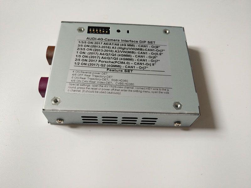 Приложение задний фронт в автомобильных системах камеры видеоинтерфейс для Audi Q3 A6L Q5 Q7 4GMMI