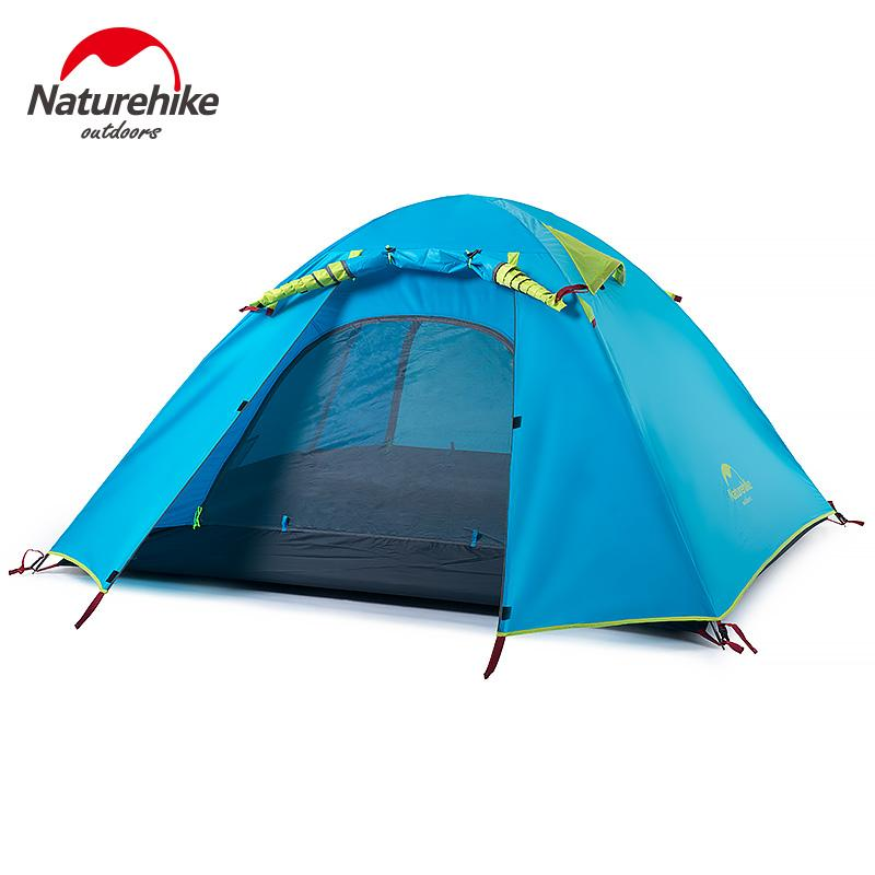 Naturehike 3-4 Person Tent New Arrived 3Season 210*160*115Cm Double Layer Outdoor Camping Hike Travel Play Tent Aluminum Pole