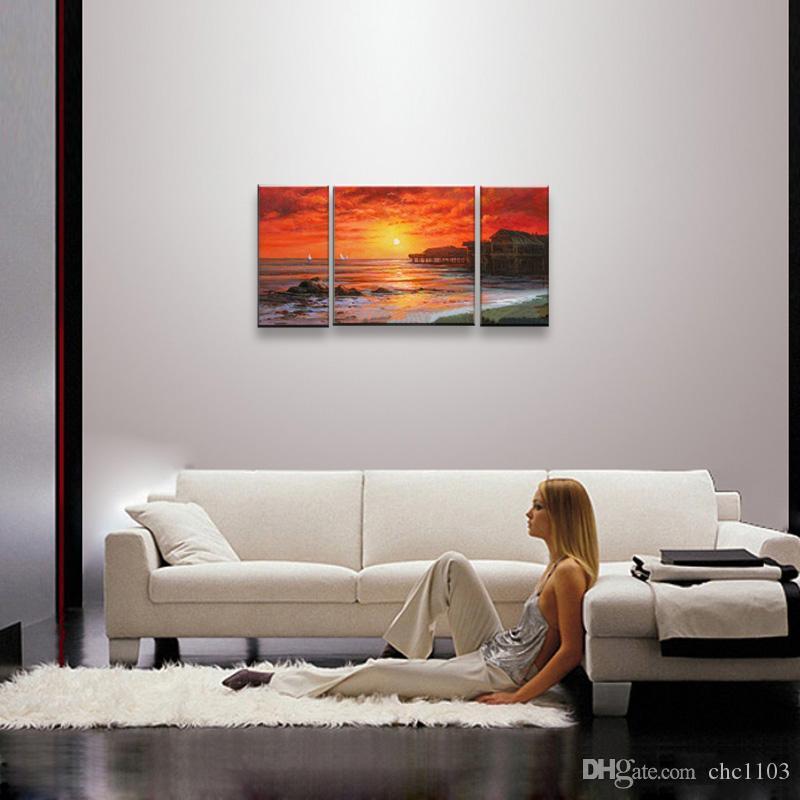 Paysage marin peinture à l'huile peinte à la main art mural peinture à l'huile sur toile SE-022