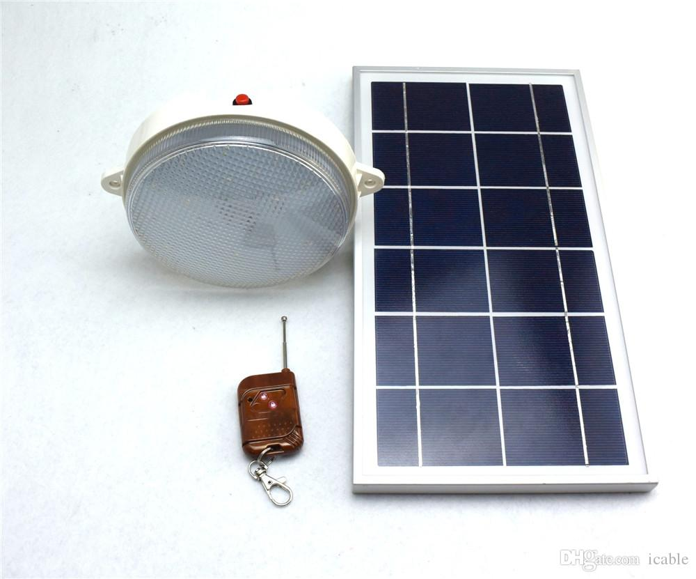 2017 450lm 6v 8w Solar Panel Remote Control 18 Led Solar Led Lamp Outdoor  Wall Lamp Indoor Ceiling Light From Icable, $40.71   Dhgate.Com
