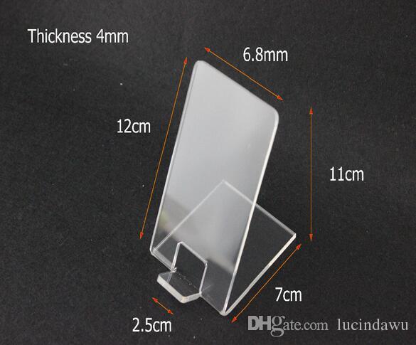 Espositore acrilico mobile del supporto del telefono cellulare dello scaffale di esposizione acrilico da tavolino del deposito digitale