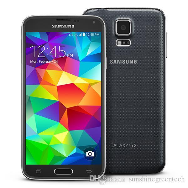 سامسونج جالكسي S5 G900V G900P G900F G900A الهواتف المجددة الهاتف المحمول مقفلة سامسونج أندرويد 5.1 بوصة شاشة 2GB RAM 16GB ROM