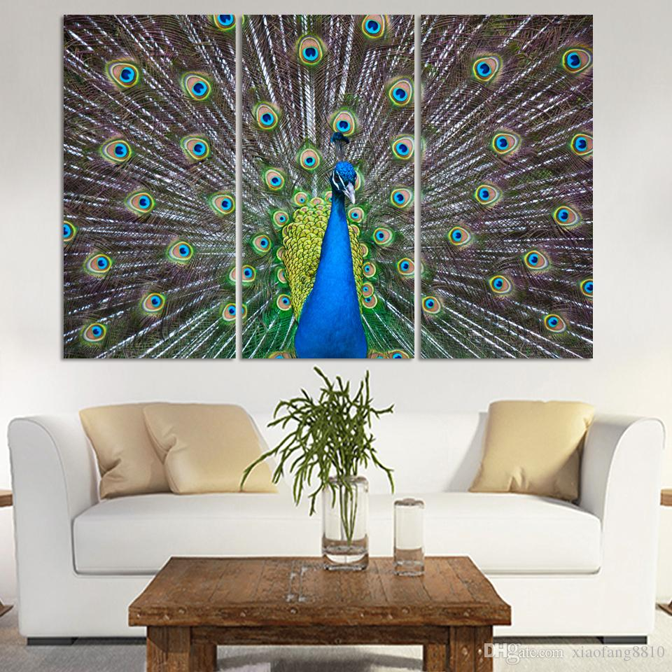 Classic luxury Art Deco painting canvas modern canvas picture peacock painting home decoration bedroom framed canvas paintingno frame