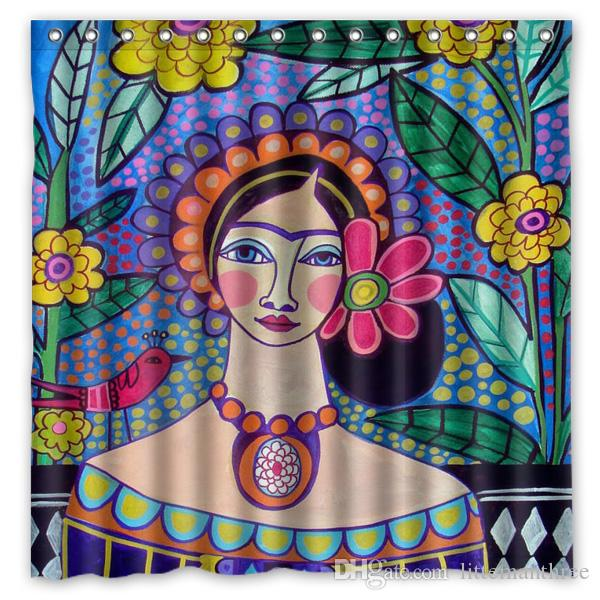 2018 Muse Frida Kahlo Design Shower Curtain Size 180 X Cm Custom Waterproof Polyester Fabric Bath Curtains From Littemanthree 2513