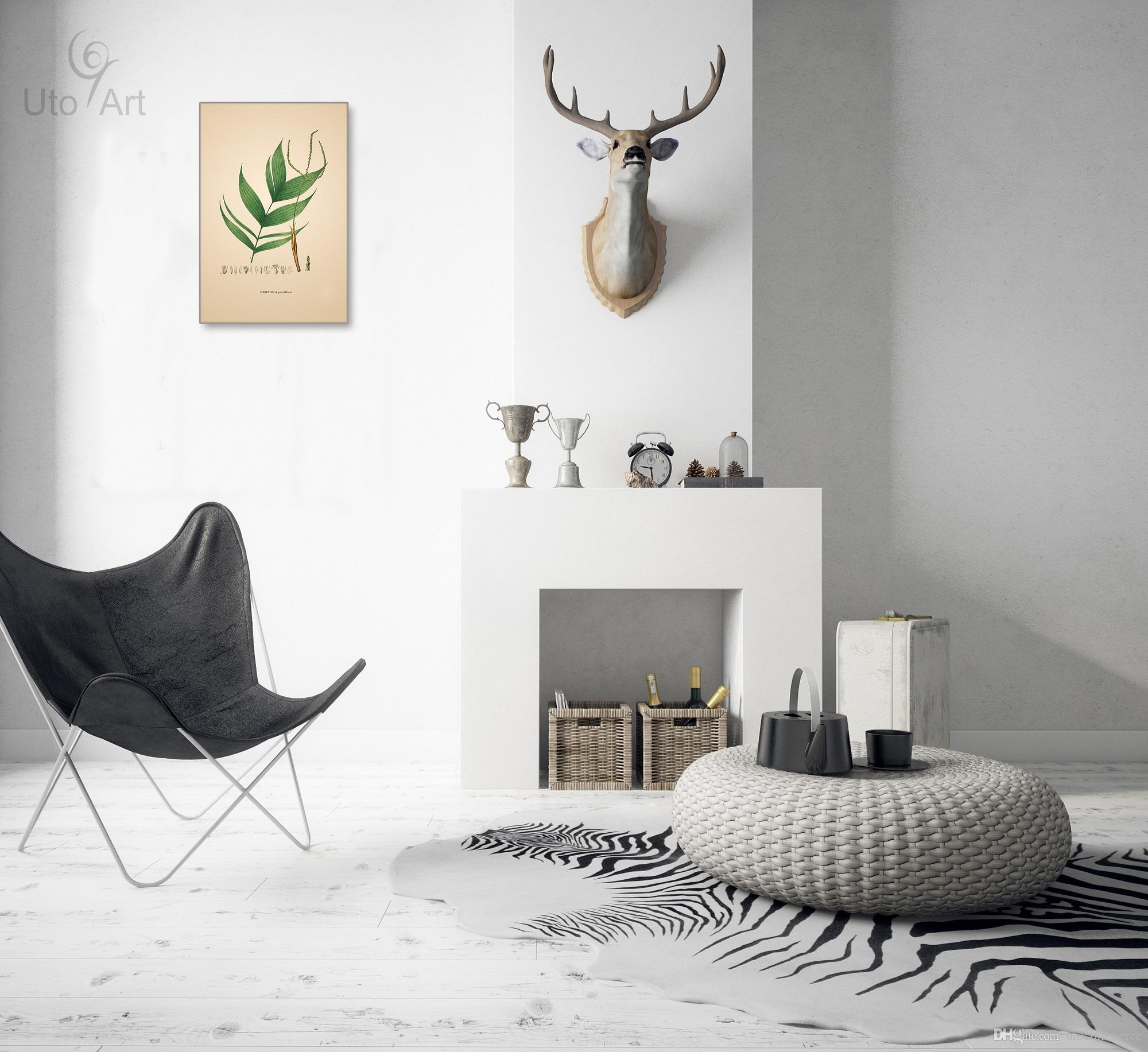 Europe Picture Nordic Leaf Painting Plant Canvas Morden Wall Art Oil Painting Brief Pictures for Living Room Home Decor Picture