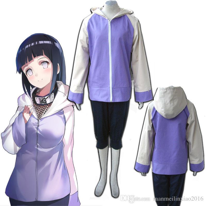 Hyuga Hinata Second Generations Cosplay Costume Cartoon Character COS Naruto Unisex High Quality Full Set For Halloween