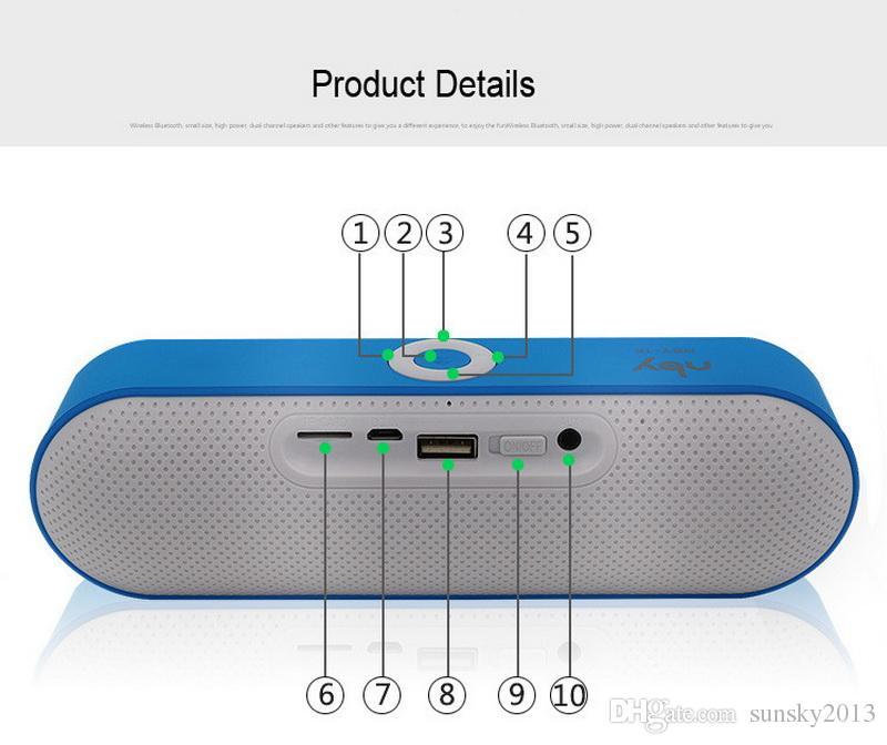 Wholesale Bluetooth Mini Speaker NBY-18 Boombox 3D Surround Stereo Soundbox Wireless Portable Subwoofers FM Radio Aux USB TF MP3 Player