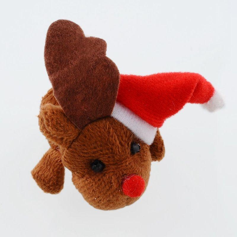 Christmas Santa Finger Puppets Cloth Doll Santa Claus Animal Toy Babies Storyteller Talking Props Infant Educational Finger Puppets