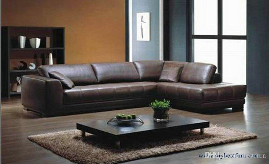 Discount Corner Sofa In Leather Modern Sofa Set, 2013 New Design American  Style L Shaped Genuine Leather Corner Sofas Set L9058 From China |  Dhgate.Com