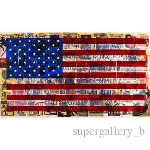 Pure Handpainted Modern Abstract graffiti Art oil painting American Flag,For Home Wall Art Decor High Quality Canvas size can customized