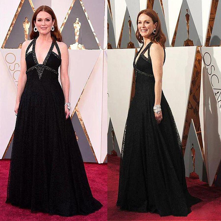 V neck a line celebrity dresses with beads black chiffon long jpg 900x900 Line  celebrity dress 332e872cf861