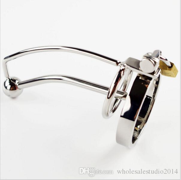 Bloqueo de sonido uretral masculino en dispositivo de castidad 5 anillos para elegir fetichismo de metal Juguete sexual Catéteres inserción Chastity Chastity