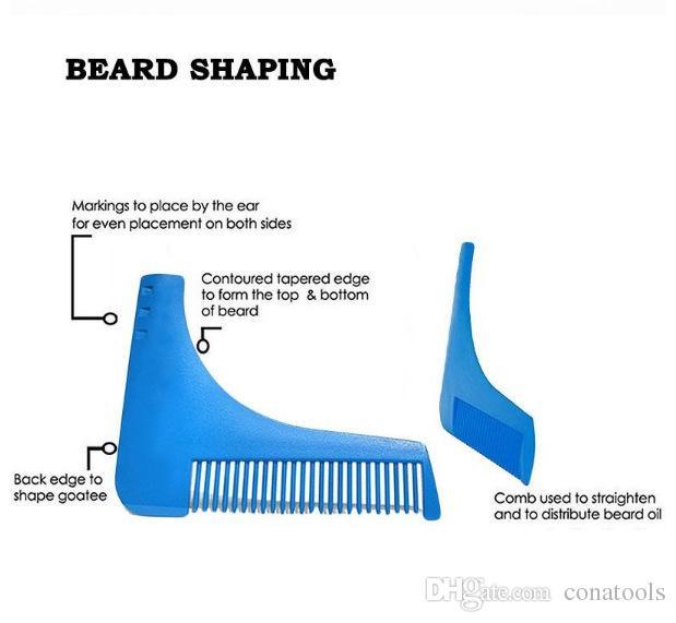 Novo Pente Barba Shapper Shaping Ferramentas Sex Man Cavalheiro Guarnição Modelo de Corte de Cabelo Moldagem Trimmer Modelo modelagem Ferramenta Pente de Barba