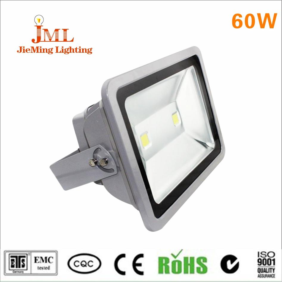 SMD 5730 LED floodlight used aluminum housing material 60 W floodlight IP65 waterproof outdoor lighting AC85-265V