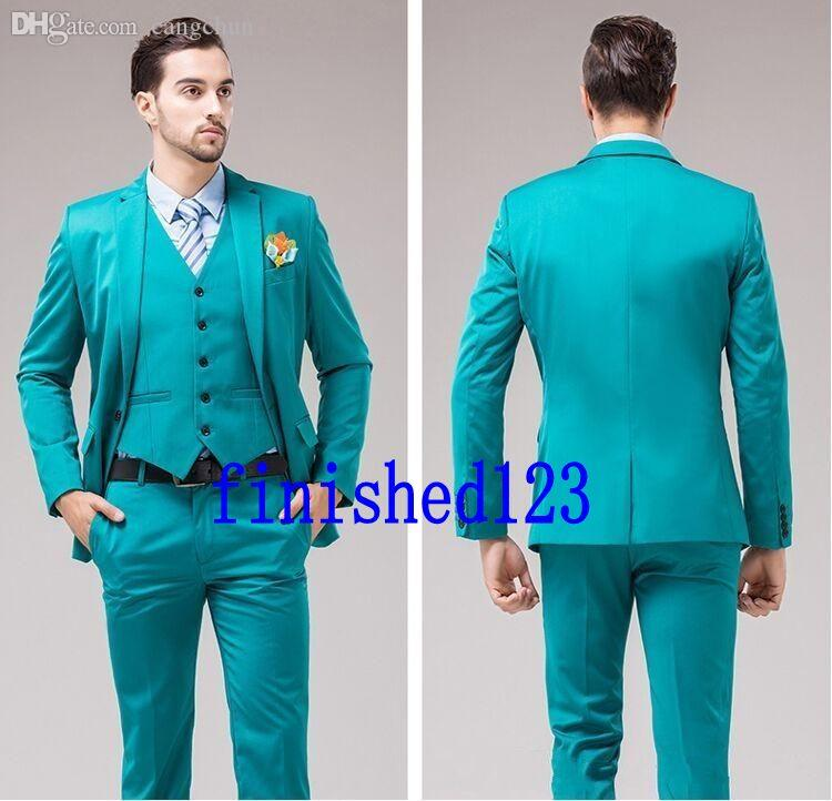 c69781dd5 Wholesale-Popular Style One Button Groom Tuxedos Groomsmen Men's Wedding  Prom Suits Bridegroom (Jacket+Pants+Vest) K:1114