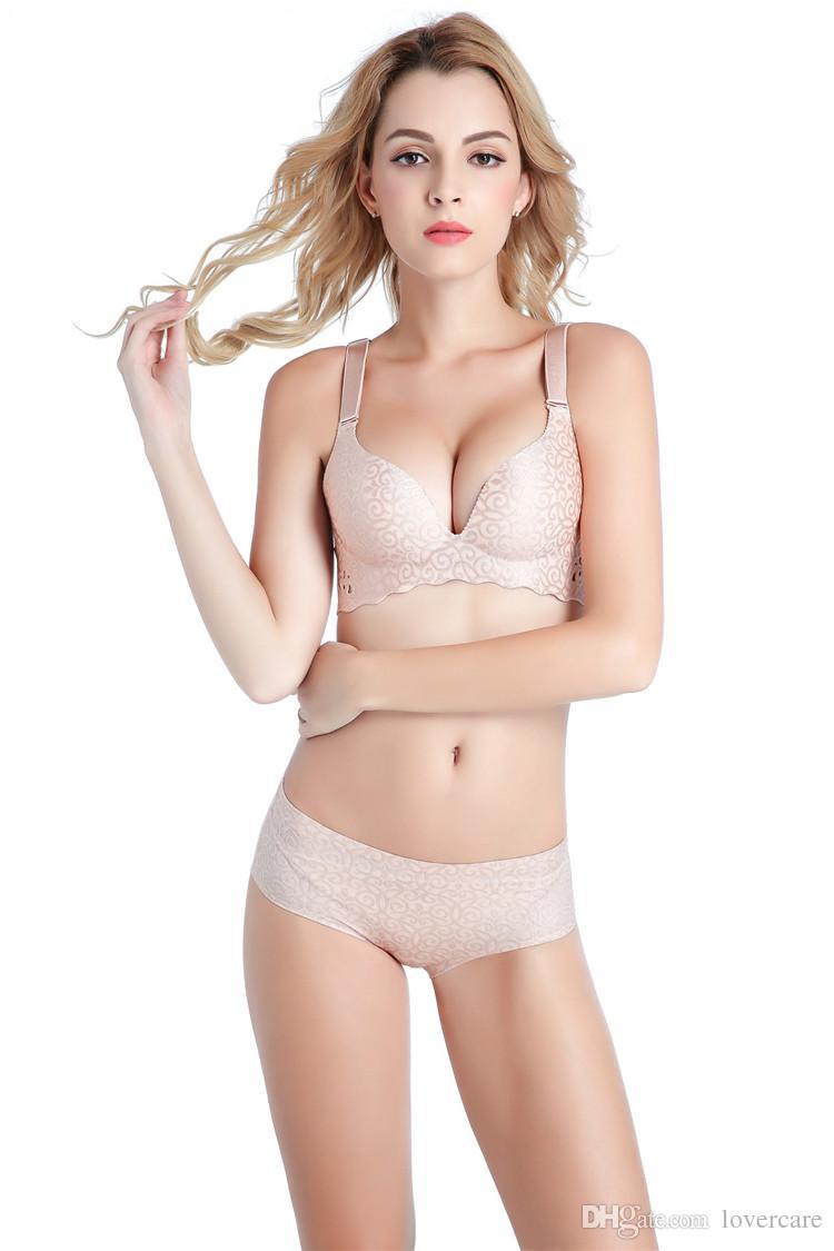 Summer gather bra One piece of lace underwear, thin section adjustment type No rims bra 19 size ,
