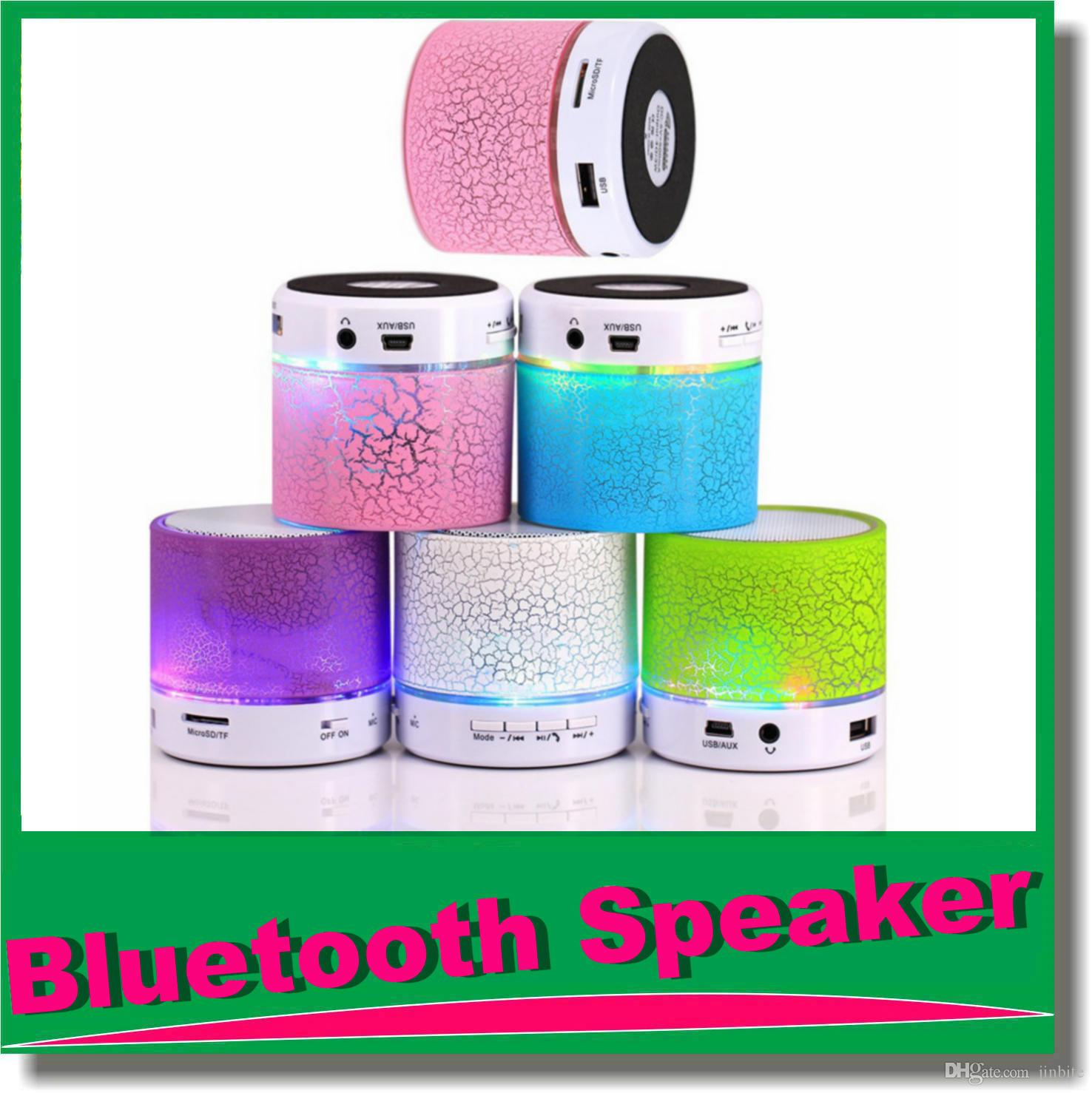 Colorful Mini Bluetooth Speaker A9 S10 Crack With Led Light