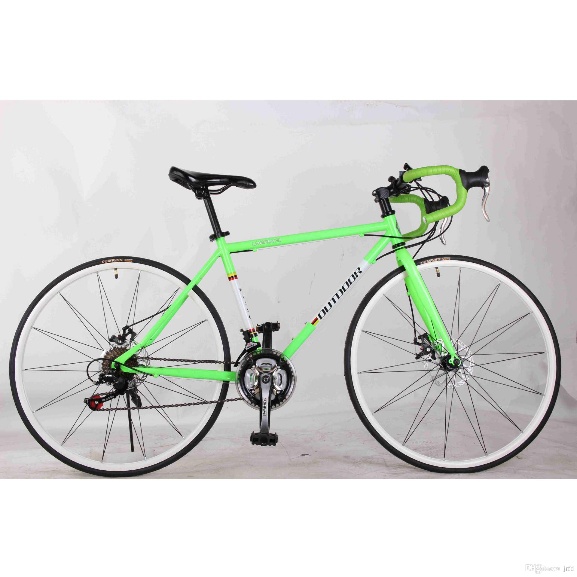 New Road Bike 700c Disc Brake High Carbon Steel Frame Spinning Bike ...