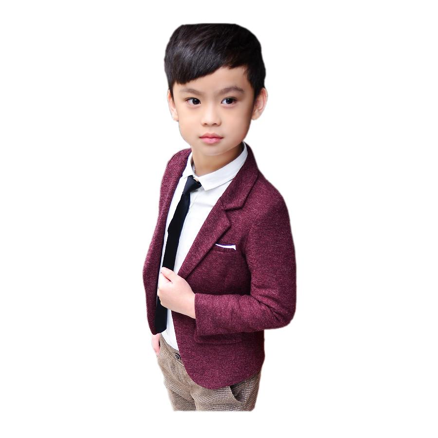 269b3436a Fashion Kid Boy Blazer Coat Solid Gentleman Causal Jacket Coat For 2 ...