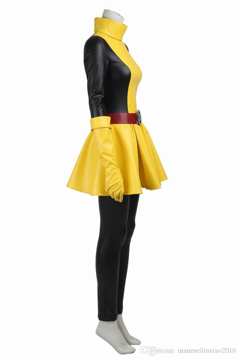 2016 New Comics Superhero X-men Sexy Womens Magik Cosplay Costume with Boots and Gloves Halloween Party Customize Any Size